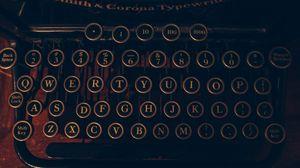 Превью обои печатная машинка, буквы, цифры