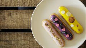 Превью обои печенье, десерт, глазурь, тарелка