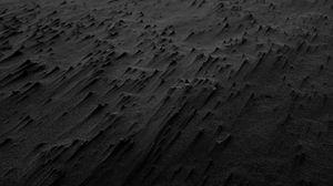 Превью обои песок, черный, пляж, текстура, карекаре, новая зеландия