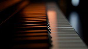 Превью обои пианино, клавиши, макро, музыкальный инструмент
