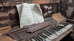 Превью обои пианино, музыка, ноты
