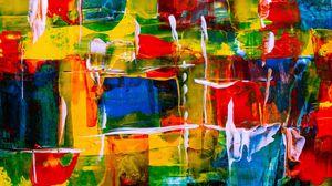 Превью обои пятна, краска, абстракция, разноцветный, текстура