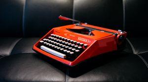 Превью обои пишущая машинка, ретро, диван