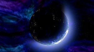 Превью обои планета, космос, вселенная, звезды