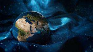 Превью обои планета, земля, материки, арт