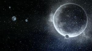 Превью обои планета, звезды, галактика