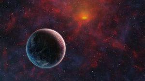 Превью обои планеты, космос, спутник, вселенная, открытый космос, галактика, звезды