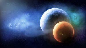 Превью обои планеты, космос, звезды, вселенная