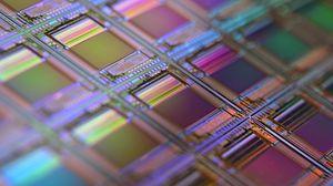 Превью обои пластина, схема, чипы, деталь