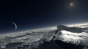 Превью обои плутон, планета, карликовая планета, транснептуновый объект, новости