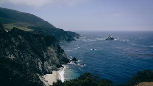 Превью обои побережье, берег, море, скалы