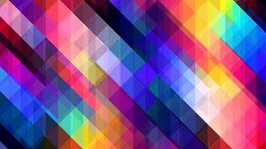 Превью обои полосы, наискось, разноцветный, кубы
