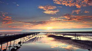 Превью обои природа, море, небо, облака