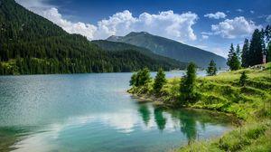 Превью обои природа, озеро, горы, лес