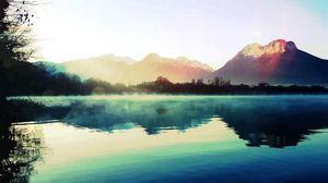 Превью обои природа, свет, озеро