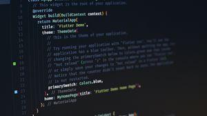 Превью обои программирование, код, экран