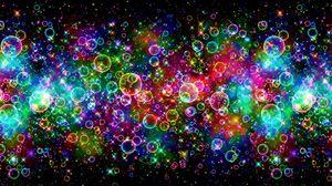 Превью обои пузыри, разноцветный, яркий