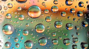 Превью обои пузыри, жидкость, макро, газы