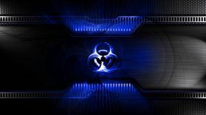 Превью обои радиация, свет, знак, символ, металл