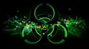 Превью обои радиация, знак, пятна