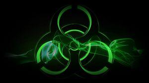 Превью обои радиация, знак, символ, фон