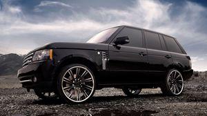 Превью обои range rover, land rover, авто, машины, диски, тюнинг, облака