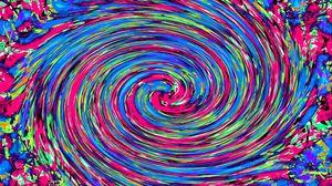 Превью обои разноцветный, вращение, закручивание, абстракция