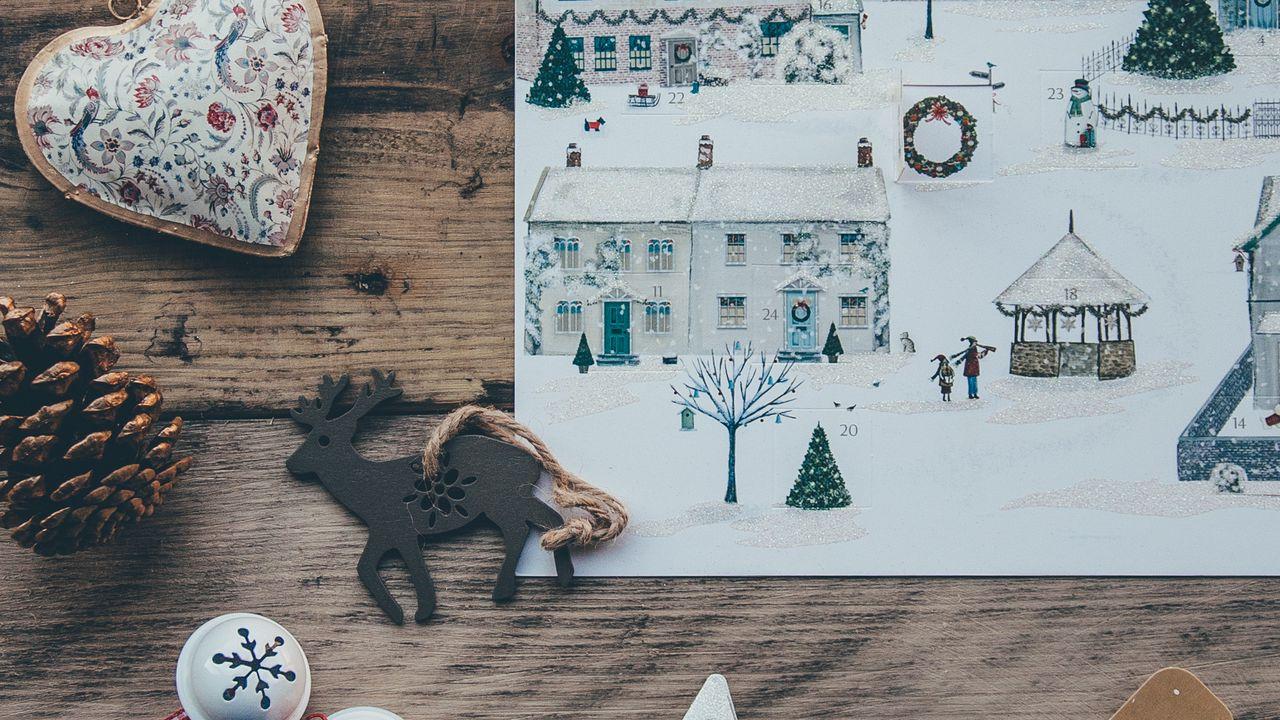 Обои рождество, арт, игрушки