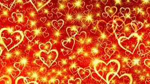 Превью обои сердце, арт, блеск