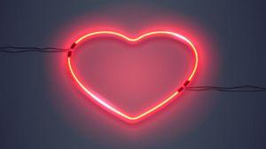 Превью обои сердце, подсветка, неон