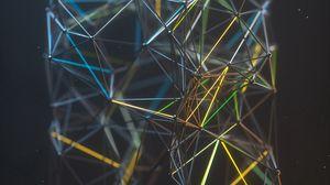 Превью обои сетка, структура, 3d, линии, соединения