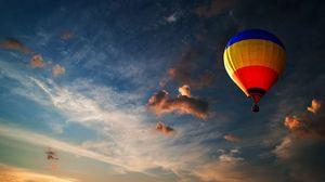 Превью обои шар, небо, облака, полет