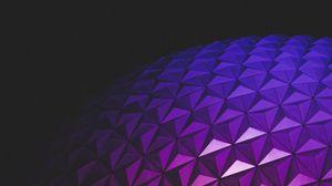 Превью обои шар, рельеф, градиент, архитектура, свет, темный