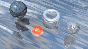 Превью обои шар, рендеринг, объем, фигуры, отражение
