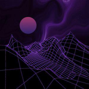 Превью обои шар, сетка, рельеф, фиолетовый