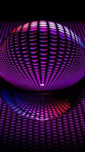 Превью обои шар, сфера, круги, форма