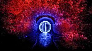 Превью обои шар, тоннель, подсветка, стены