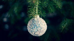 Превью обои шар, украшение, елка, новый год, рождество