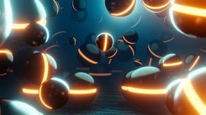 Превью обои шары, круглый, свечение, 3d