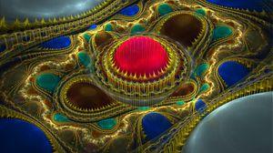 Превью обои шары, яркий, абстракция, фрактал