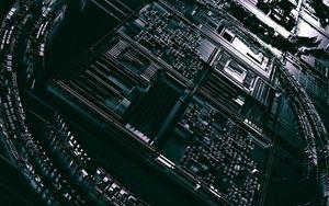 Превью обои схема, процессор, чип, 3d