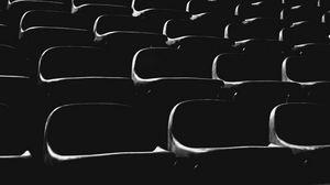 Превью обои кресла, черный, темный, чб