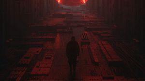 Превью обои силуэт, пространство, sci-fi, фантастика, киберпанк, будущее