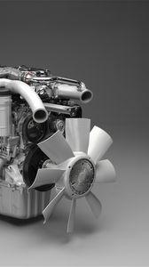 Превью обои 3d, мотор, странный, серый
