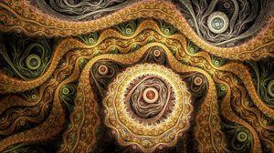 Превью обои абстракция, коричневый, узоры, светлый
