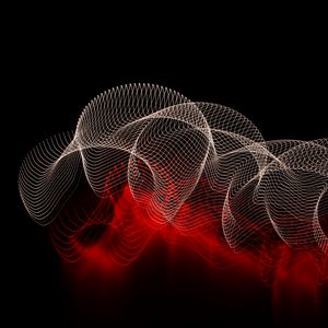 Превью обои абстракция, линии, пятна, темный фон