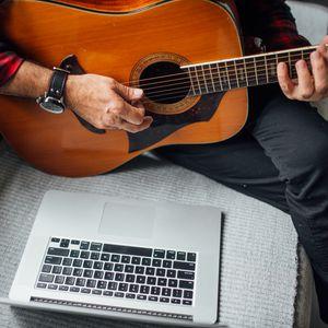 Превью обои акустическая гитара, гитара, гитарист, музыка