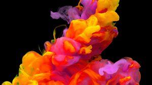Превью обои акварель, сгустки, разноцветный