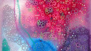 Превью обои акварель, узоры, линии, абстракция, разноцветный, хаотичный