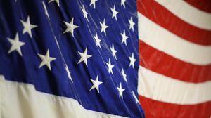 Превью обои америка, флаг, ткань